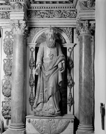 2 statues (en pendant) : Saint Joseph, Saint Joachim