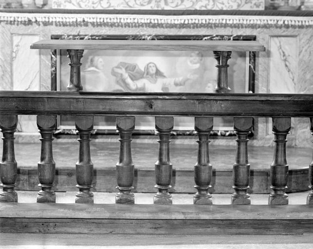Clôture de choeur, table de communion
