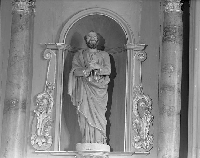 statues : saint Pierre, saint Paul