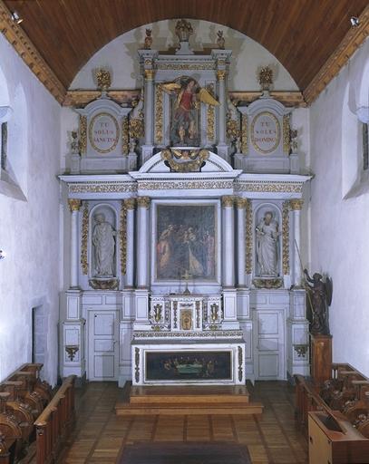 Ensemble du maître-autel (autel, tabernacle, retable, 2 gradins)