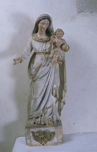 Statue (petite nature): Vierge à l'Enfant