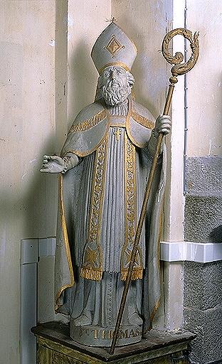 Statue (grandeur nature): saint Thomas (évêque)