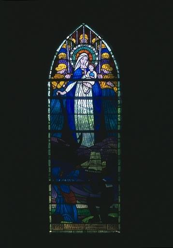 Verrière-ex-voto de la maîtresse-vitre: Notre-Dame de l'Espérance