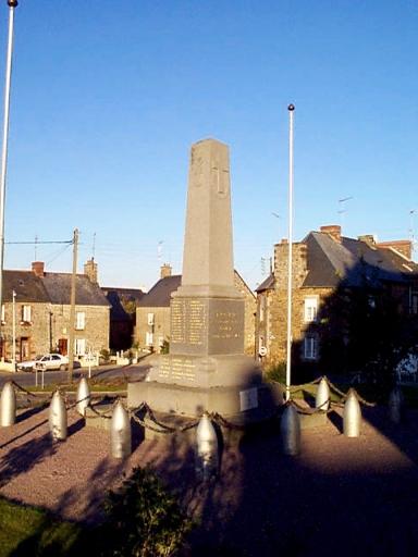 Monument aux morts des guerres 14-18 et 39-45, rue du Calvaire (Epiniac)