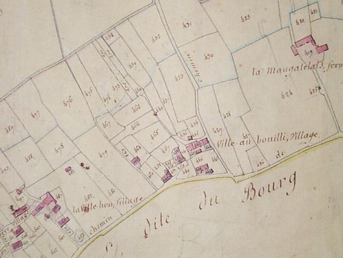 Ferme, la Ville ès Bouilli (Roz-Landrieux) ; Ferme, la Ville ès Bouilli (Roz-Landrieux) ; Manoir, la Mongatelais (Roz-Landrieux) ; Ferme, la Ville Hou (Roz-Landrieux)