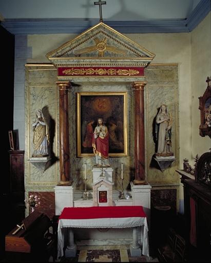 Retable de l'autel secondaire sud