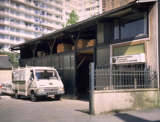 Usine de menuiserie Edouard Bergot, 45 rue Dupont des Loges (Rennes)