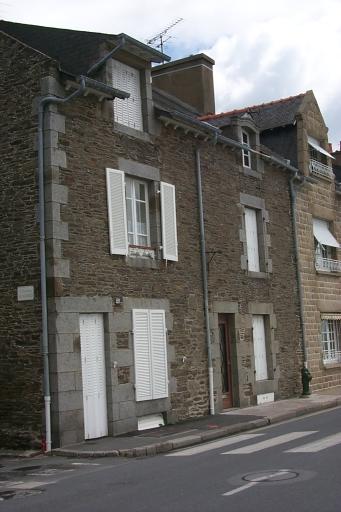 Maison de pêcheurs, 25, 25 bis quai John Kennedy ; 2 rue des Bisquines ; rue Amiral Bouvet, la Houle (Cancale)
