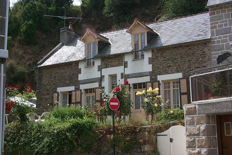Maison de pêcheurs, 58, 60 rue Amiral Courbert, la Houle (Cancale)