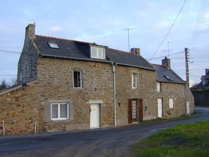 Alignement de maisons, 19-21 rue de la Cour Galant (Saint-Coulomb)