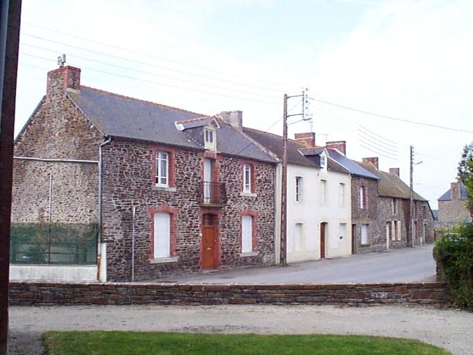 Alignement de maisons, 34,36 rue de l' Ile Verte (Saint-Benoît-des-Ondes)