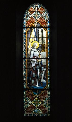Verrière de la baie 3: sainte Jeanne d'Arc