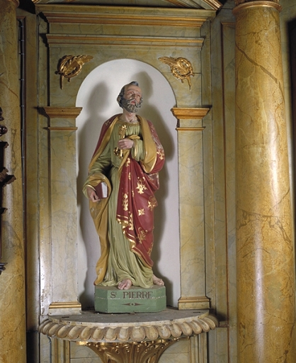 Ensemble de 2 statues : saint Pierre ; saint Jacques