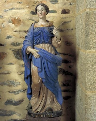 Statue: sainte Apolline