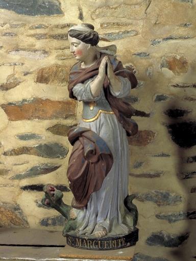 Statue: sainte Marguerite et le dragon