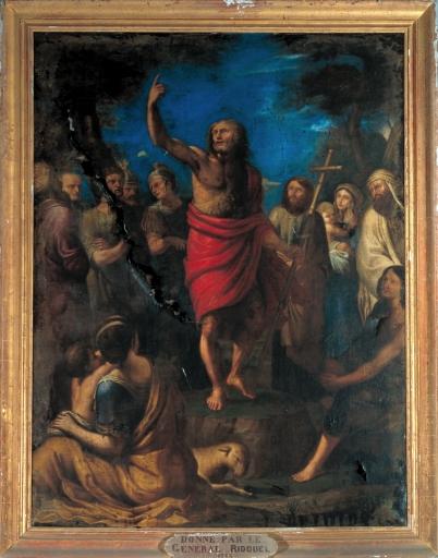 Tableau: Prédication de saint Jean-Baptiste