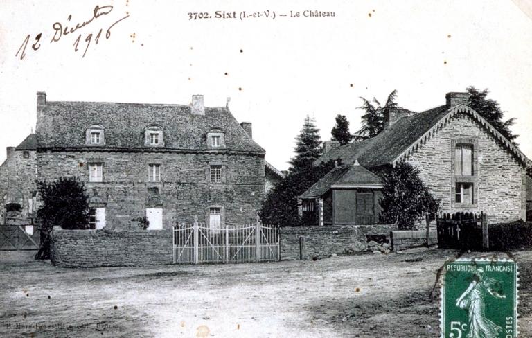 Manoir de la Cour de Sixt ou manoir du Plessis, 8 cour de la Maison de Sixt (Sixt-sur-Aff)
