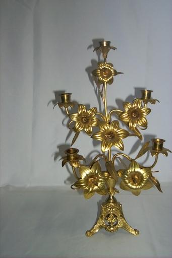 Paire de chandeliers d'église