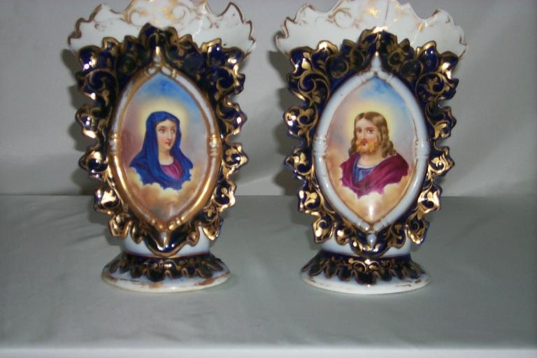 Paire de vases d'autel