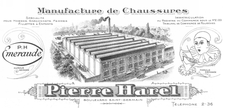 Usine de chaussures Harel, puis Harel Fils et Cie, actuellement magasin de commerce, 5 boulevard Saint-Germain (Fougères)