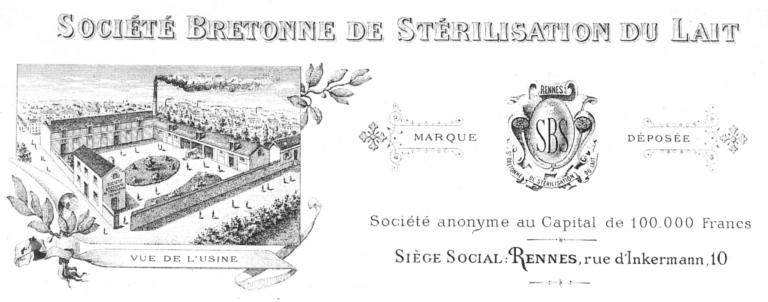 Laiterie industrielle (beurrerie) dite Société Bretonne de Stérilisation du Lait, puis usine de construction mécanique Panhaleux, 14 rue d'Inkermann (Rennes)