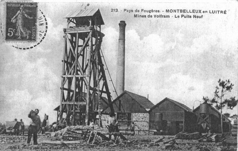 Mine de wolfram de Monbelleux (Luitré fusionnée en Luitré-Dompierre en 2019)