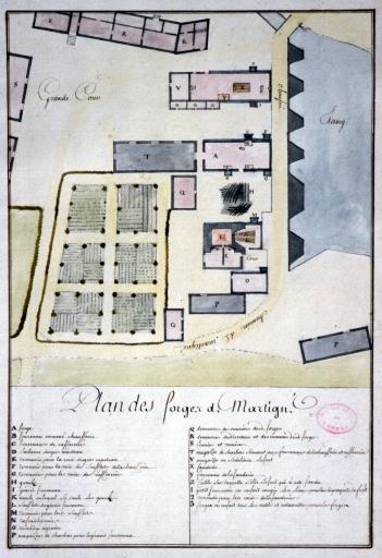 Moulin à blé, puis usine métallurgique dite forges de Martigné, actuellement minoterie dite les Grands Moulins, la Forge (Martigné-Ferchaud)