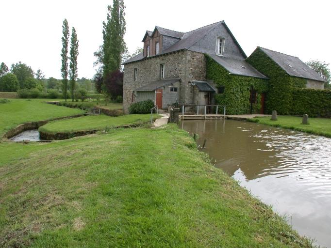 Moulin à farine, puis minoterie des Morandais, près du Pont de l'Isle (La Chapelle-Blanche)