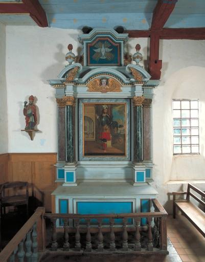 Ensemble de l'autel de saint Léger: autel, retable