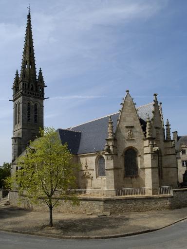 Église paroissiale Saint-Bieuzy, place Ernest Lemoine (Bieuzy fusionnée en Pluméliau-Bieuzy en 2019)
