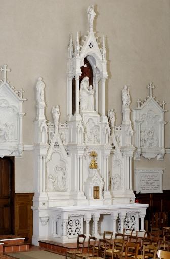 Ensemble de l'autel de sainte Anne: autel, tabernacle, retable