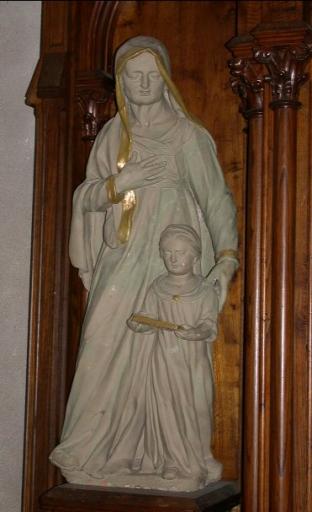 Statue: Education de la Vierge