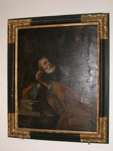 Tableau et cadre: saint Pierre