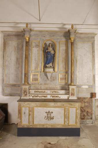 Autel, retable et gradins d'autel
