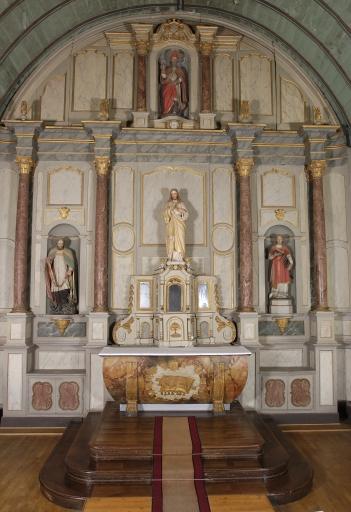 Ensemble du maître-autel: autel, tabernacle, retable, 3 degrés d'autel