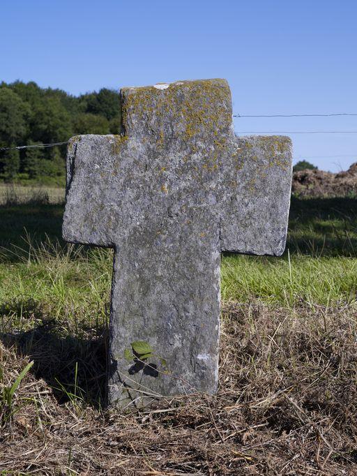Croix de chemin près du Bolin (Le Roc-Saint-André fusionnée en Val d'Oust en 2016)