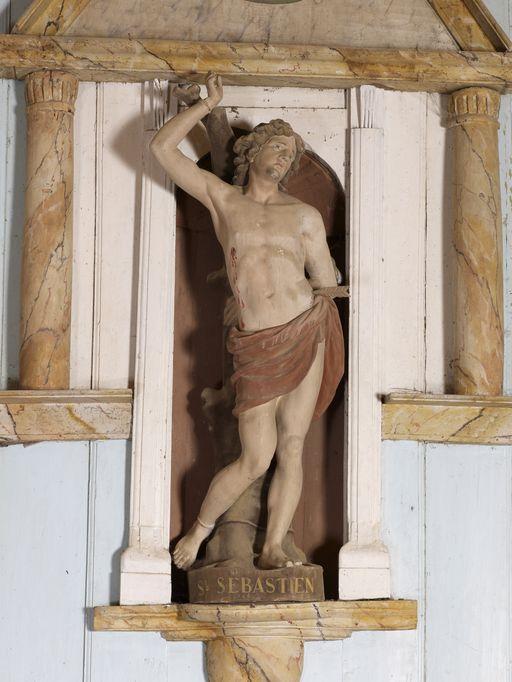 Statue: Saint Sébastien, chapelle Saint-Sébastien (Sérent)