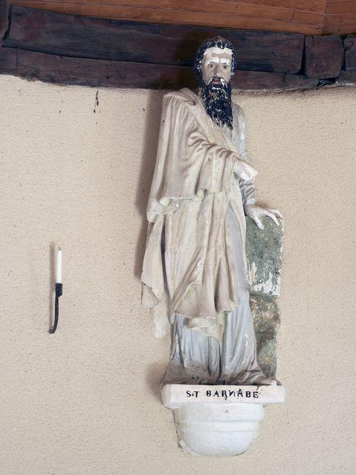 Statue: Saint Barnabé, chapelle Saint-Barnabé (Sérent)