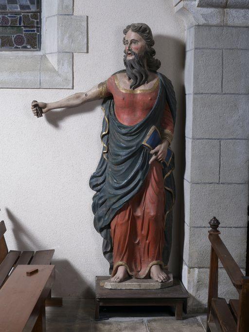 Statue: Saint Paul, église Saint-Pierre-Saint-Paul (Ruffiac)