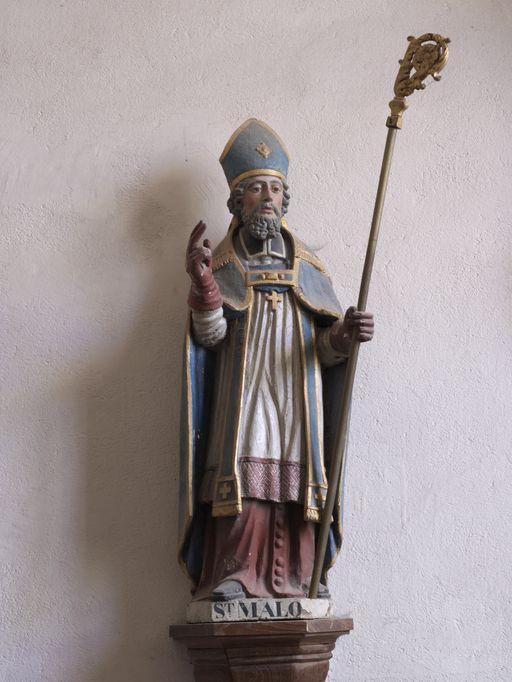 Statue: Saint Malo, église Saint-Malo (Monterrein fusionnée en Ploërmel en 2019)