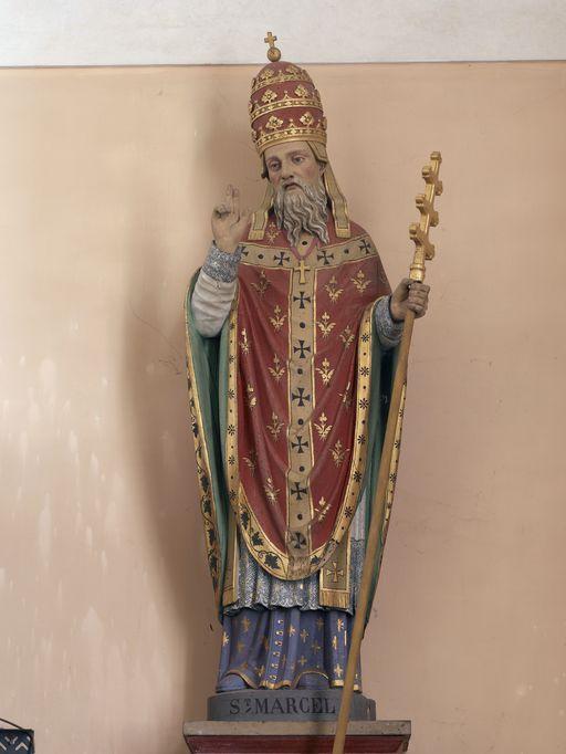 Statue: Saint Marcel, église Saint-Marcel (Saint-Marcel)