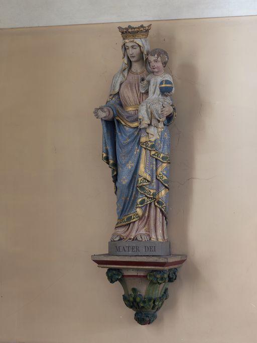 Statue: Vierge à l'Enfant, église Saint-Marcel (Saint-Marcel)