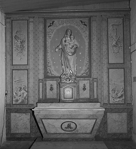 Autel, tabernacle, retable (autel secondaire de la Vierge)