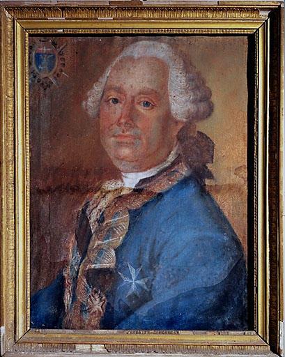Tableau : portrait du chevalier Henri d'Aulan