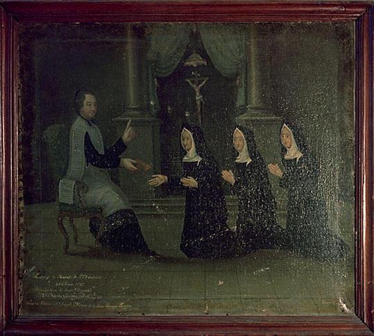 Tableau : Bénédiction de la chapelle des soeurs de la Charité de Montoire