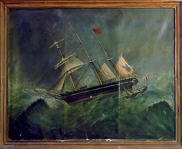 Ex-voto tableau : sauvetage en mer