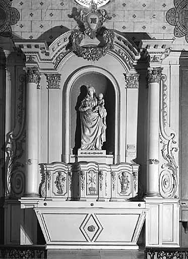 Autel, tabernacle, retable (autel secondaire, autel tombeau, tabernacle à ailes, retable architecturé à niche)