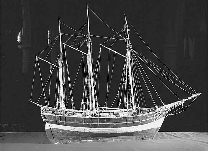 Ex-voto maquette du navire la Jeanne d'Arc