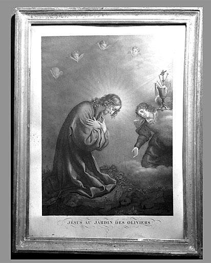 Estampe : Jésus au Jardin des oliviers