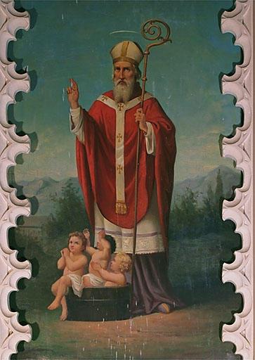 2 tableaux d'autel : Assomption, saint Nicolas